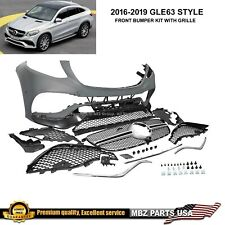 GLE63 Coupe front Bumper kit grille GLE 2015 2016 2017 2018 New Mercedes Benz