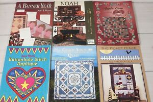 Lot of 6 Vintage Quilting Books Patterns How To Quilt Ideas Buttonhole Stitch