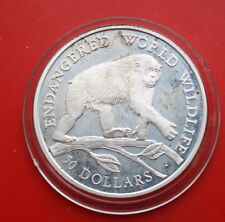 "Cook Islands: 50 Dollars 1990 Silber, KM# 59, PP-Proof, #F1150, ""Chimpanzee"""