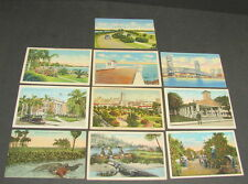 Vintage Clearwater Tampa Ft Myers Miami Etc Florida Postcard Card Lot of 10