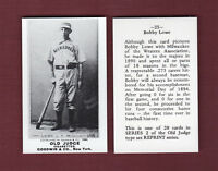 1887-1890 Old Judge N172 REPRINT: Bobby Lowe, Milwaukee Brewers/Creams (WA)