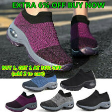 Women's Air-Cushion Sport Running Shoes Breathable Mesh Walking Slip-On Sneakers