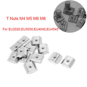 20-45 Series Square Solid Sliding Full Tee Nut T-Nut Aluminum Extrusion Profile