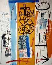 Jean-Michel Basquiat, Four Big 1982, Hand Signed Lithograph