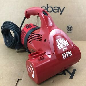 Dirt Devil Royal Ultra Red Electric Handheld Vacuum Model 08230 6.A4