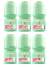 6X Mitchum Advanced 48hr POWDER FRESH Women Roll On 50ml Travel Size