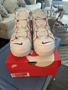 Nike Air More Uptempo 96 White Varsity Red Size 12 (921948-102) In Hand DS