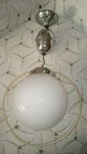 LUSTRE GLOBE ANCIEN  DÉCO  VINTAGE DESIGN diamètre globe : 20 cm monte et baisse