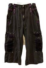 Tripp NYC AF7103M Vintage Punk Goth Hot Topic Pants Rave Unisex Black Purple XL