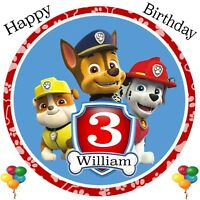 Paw Patrol PERSONALISED Birthday Card ANY AGE & NAME