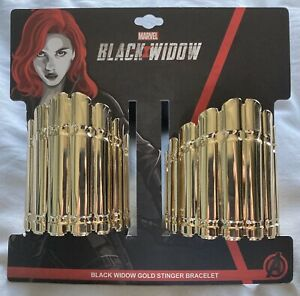 MARVEL Black Widow Replica Gold Stinger Metalic Bracelet Set