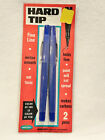 VINTAGE WALLACE PENCIL CO.  - HARD TIP FINE LINE BLUE PENS - 2 COUNT  BRAND NEW