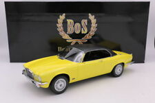 BoS BEST OF SHOW MODELS  -  JAGUAR XJ 4.2C (RHD) YELLOW BLACK ROOF1:18 SCALE