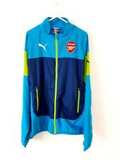 Arsenal Track Top Jacket. Small Adults. Puma. Blue Football Long Sleeves S.