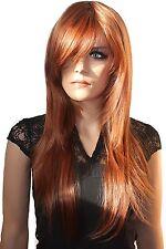 PRETTY Fashion Lady Wig Long Hair Cosplay Curled Wavy COPPER BROWN
