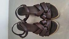 Clarks Leather Platform Sandals Size 37 / UK 4
