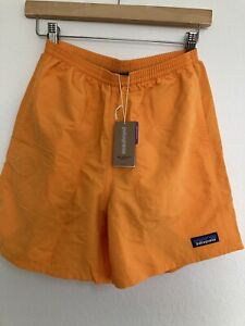 "Patagonia Men's 5"" Baggies Shorts Mango Size Extra Small XS 5 inch Orange"