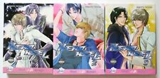 Hero-Heel Vol. 1 2 & 3 Makoto Tateno Yaoi Manga Novel Comic Book