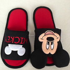 Disney Mickey Mouse Soft Plush Women Men Slippers Shoes Size UK 4-8, US 6-10