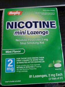 Rugby Nicotine Polacrilex Mini Lozenge, 2 Mg, 81 Count, Mint Flavor, FREE SHIP!