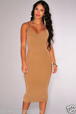Royaume-uni pour femme robe moulante sexy double entrecroisent backless robe-taille 10 - 12