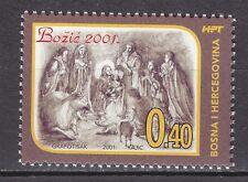 BiH - HERCEG BOSNA 2001 ** MNH SC # Nr 77 Christmas stamp