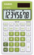 Casio SL-300NC-GN-s Electronic Calculator 10 Digit LCD Twin-POWER Tax Time GREEN