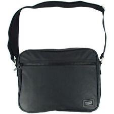 Housses et sacoches sac bandoulière noir en cuir pour ordinateur portable