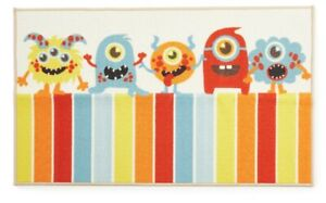 "Red & Blue Monsters Accent Bath Rug Mat (26 x 45"") Kids Shower bathroom"