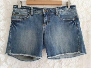 Ladies size 10 Blue Denim Shorts - BILLABONG