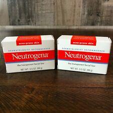 Neutrogena Transparent Facial Bar Soap - Acne Prone Skin 3.5oz **Lot of 2 NEW**