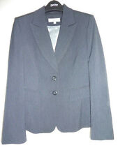 Next navy thin pin stripe women's suit jacket, fitted, flattering UK 10 (petite)