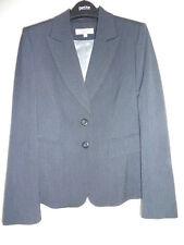 Next navy thin pin stripe women's suit jacket, fitted, flattering UK 10 (petite)