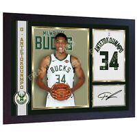 Giannis Antetokounmpo Milwaukee Bucks signed autographed poster photo NBA FRAMED