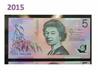 RARE 2015  $5 Note  With First Prefix  BA15 997 900 SLABED,STRICTLY UNCIRCULATED
