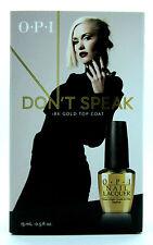 OPI Gwen Stefani Don't Speak 18K Gold Top Coat x2 15ml Bottles!!!