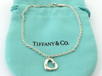 TIFFANY & CO Sterling Silver Open Heart Bracelet