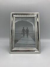 versilberter Bilderrahmen für Fotos in 10x15 / 10*15 cm (Fotorahmen, silber)