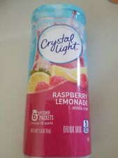 4 12-Quart Canisters  Crystal Light Raspberry Lemonade Drink Mix