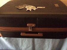 NEW(other) Designer AZZARO Black/Tan Ribbed Hard/lightweight Suitcase 71cm,