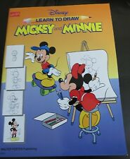 How To Draw Mickey and Minnie  Book By Walter Foster 1992 Disney