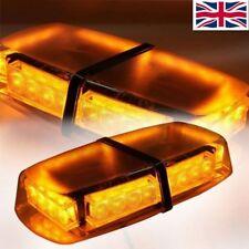 12V Roof Amber Car Vehicle Strobe Light Emergency Flashing Bar Magnetic Beacon