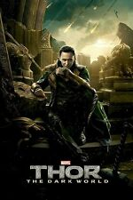 LOKI SITTING IN RUINS ~ 24x36 THOR THE DARK WORLD MOVIE POSTER ~ NEW/ROLLED!