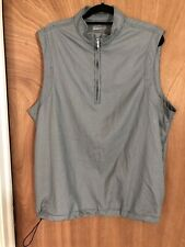 Ashworth Golf Pullover Vest Houndstooth  1/4 Zip Mens Lg