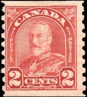 Canada Mint H 1930 2c F Scott #181 KGV Arch Leaf Coil Stamp