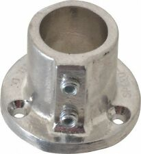 Hollaender 1 Inch Pipe, Base Flange, Aluminum Alloy Pipe Rail Fitting Bright ...