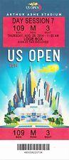 2014 US OPEN TENNIS SERENA WILLIAMS NOVAK DJOKOVIC SESSION #7 TICKET STUB 8/28