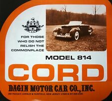 Cord Model 814 Dagin Brochure Reproduction 1936 1937 810 812 Replica Phaeton EL