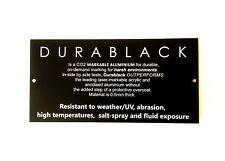 Pet Memorial Durablack Aluminium Custom Engraved UV Stable 200 x 100mm