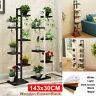 143x30CM 6-Tier Wooden Plant Stand Flower Pot Shelf Indoor Plant Storage   z